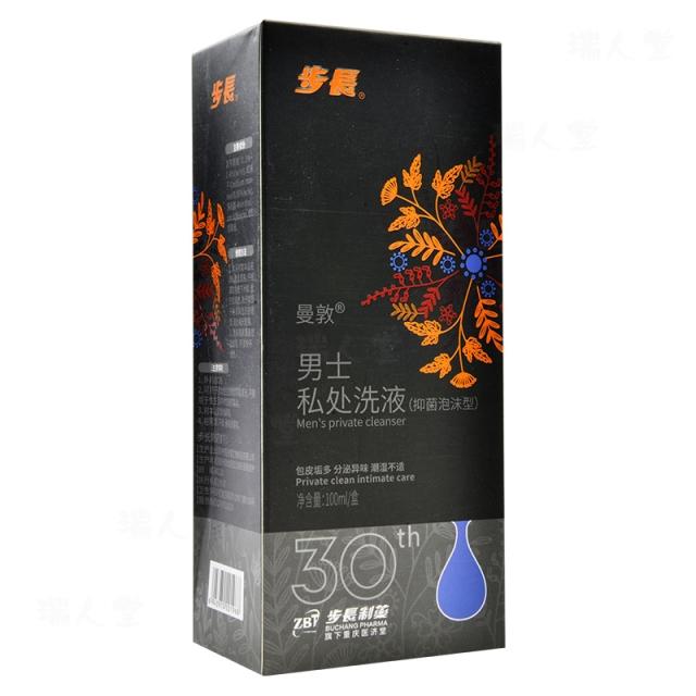 长 曼敦 男士私处洗液(抑菌泡沫型)100ml/盒
