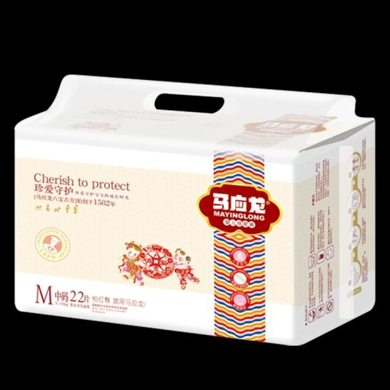 马应龙  珍爱守护婴儿纸尿裤M码(22片/包)【组合装*6】