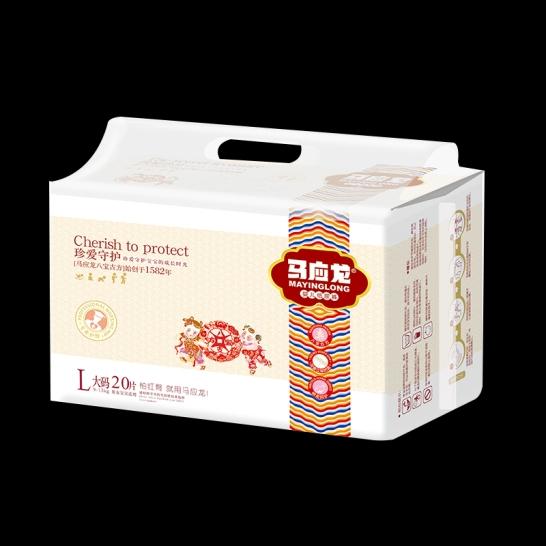 马应龙  珍爱守护婴儿纸尿裤L码(20片/包)【组合装*6】