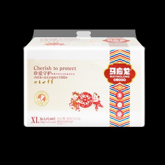 马应龙  珍爱守护婴儿纸尿裤XL码(18片/包)【组合装*6】