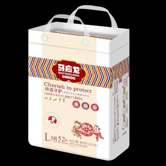 马应龙  珍爱守护婴儿纸尿裤L码(52片/包)【组合装*2】